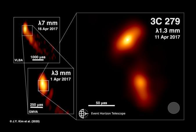 Supermassive black hole blazar