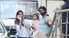 Shahid & Misha Kapoor welcome Mira and Zain home