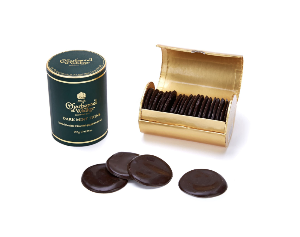 Charbonnel et Walker Dark Chocolate Thins with Peppermint Oil