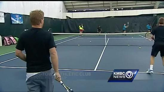 Tennis coach uses illness as teaching tool
