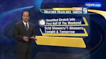 Unsettled weather continues into weekend