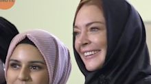 Lindsay Lohan wears a hijab, sparking mixed feelings on social media