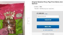 M&S 'Original Gelatine' Percy Pigs listed on eBay for £1,000