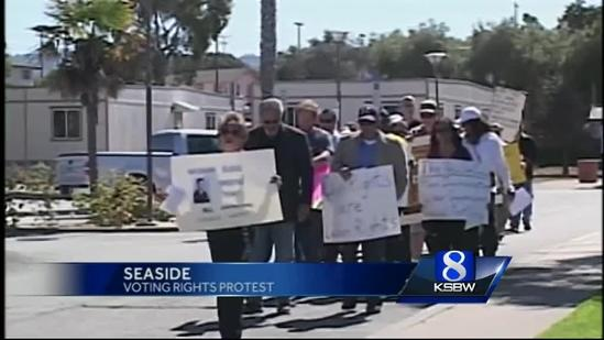 Protestors rally for voting rights in Seaside