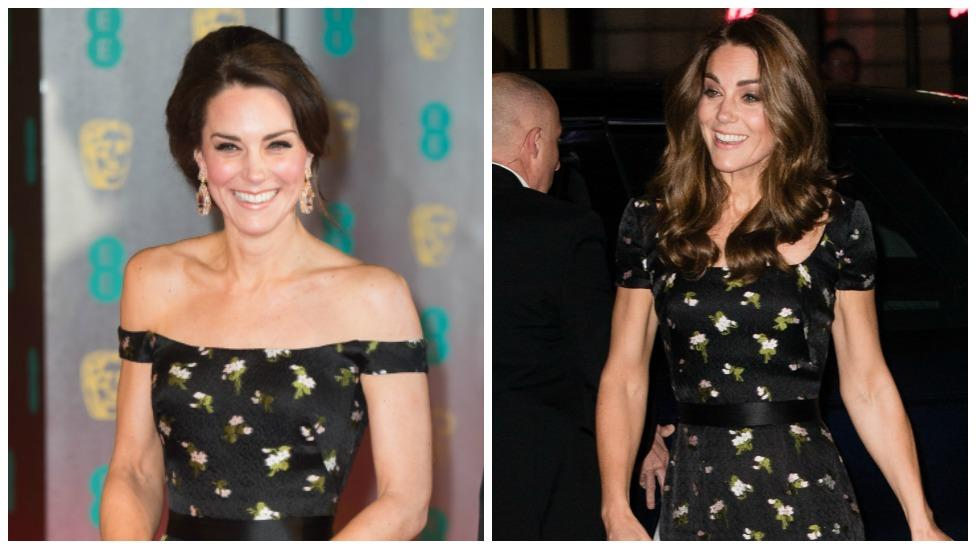 Kate dazzles in recycled Alexander McQueen dress