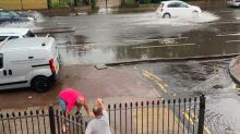 Flash flooding hits east London as heavy rain continues to lash down on UK