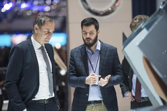 Mate Rimac and Porsche's Lutz Meschke