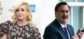 Jane Krakowsk, Mike Lindell. (Yahoo Celebrity)