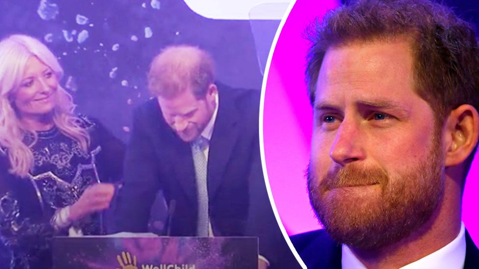 Prince Harry shocks crowd with teary breakdown during emotional speech