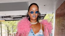 Rihanna Wore a Denim Skirt as a Top, and Honestly It's Kind of Genius