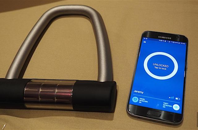 The Ellipse smart lock allows you to securely share your ride