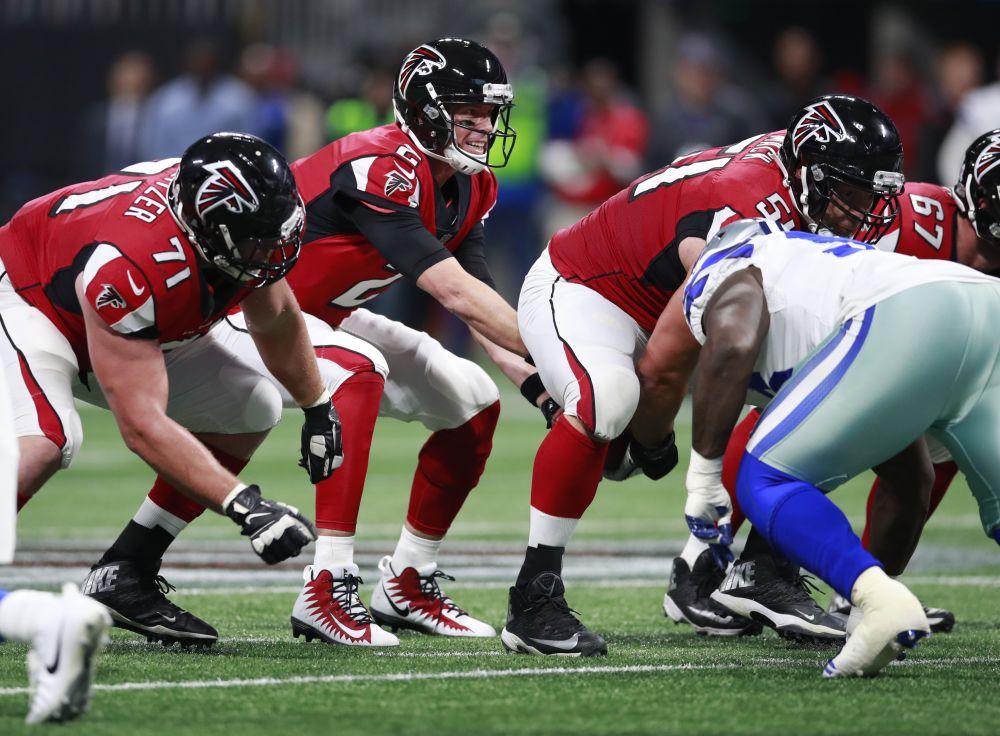 Atlanta Falcons quarterback Matt Ryan will try to lead his team to a big win in Seattle on Monday night. (AP)