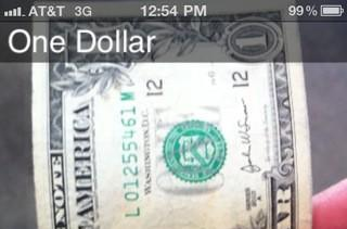 iPhone app helps the blind ID currency