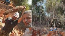 """Bruno Gagliasso vibra com construção de rancho: """"Santuário ganhando forma"""""""