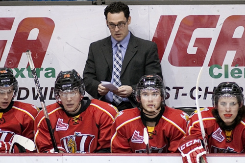 Baie-Comeau coach Eric Veilleux is reportedly heading to Norfolk to become bench boss of the Admirals. (CP / Ghyslain Bergeron)