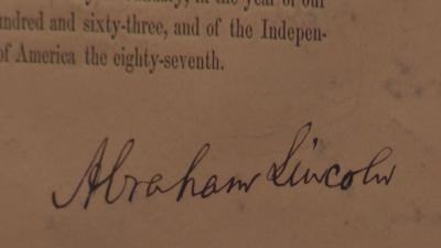 Emancipation Proclamation copy sells for $2M