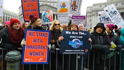 NYC women rally, march despite leadership issues