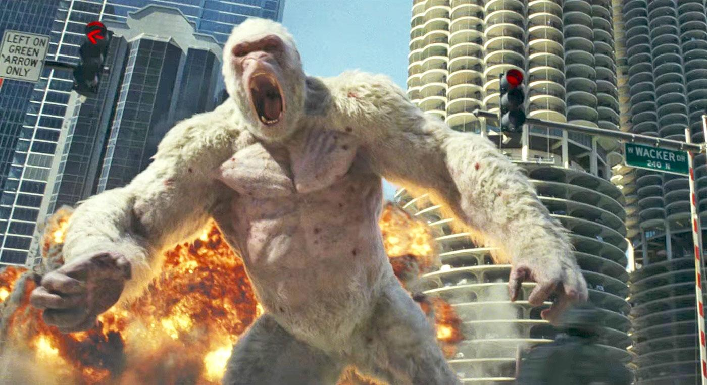 The Rock Is Chicago S Only Hope In Rampage Engadget