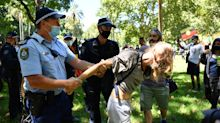 Invasion Day protests turn violent as several arrested before rally shut down