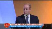 William's mental health struggles
