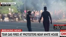 Cops Tear Gas Peaceful Protesters Before Trump's Rose Garden Remarks