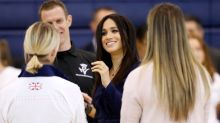 Meghan Markle brings back the suit for trip to Loughborough University