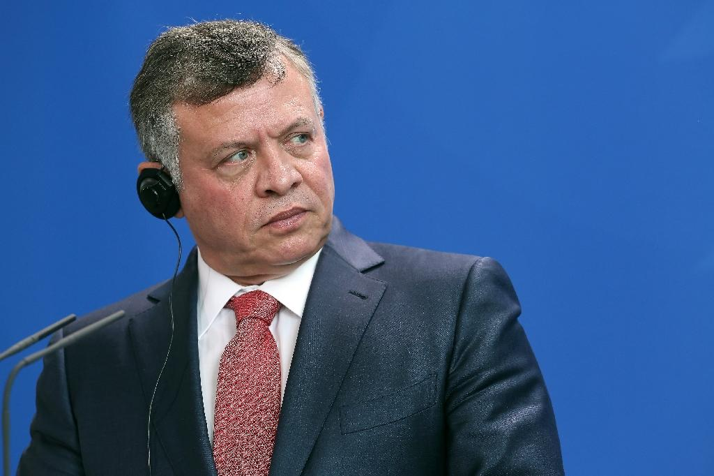 """Jordan's King Abdullah II, seen in Berlin on May 13, 2015, warned Israel that any further """"provocation"""" in Jerusalem, where Israeli police have clashed with Muslims at Al-Aqsa mosque, would damage ties between the two countries"""