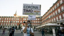 Covid protest in Madrid