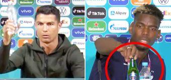 Sponsor chaos as star follows Ronaldo's stunt