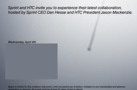 HTC and Sprint ready to show off a new 'collaboration' April 4th, might be the One X