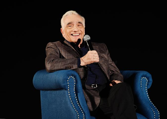 HOLLYWOOD, CALIFORNIA - NOVEMBER 15: Martin Scorsese speaks onstage during 2019 AFI Fest: The Irishman at TCL Chinese Theatre on November 15, 2019 in Hollywood, California. (Photo by Michael Kovac/Getty Images for Netflix)