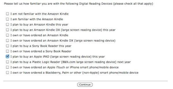 Apple iPAD outed in Borders bookstore survey?