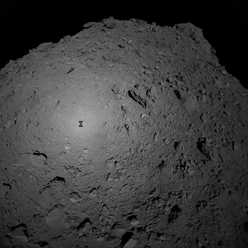 The Ryugu asteroid is thought to contain clues about the origins of life (AFP Photo/Handout)
