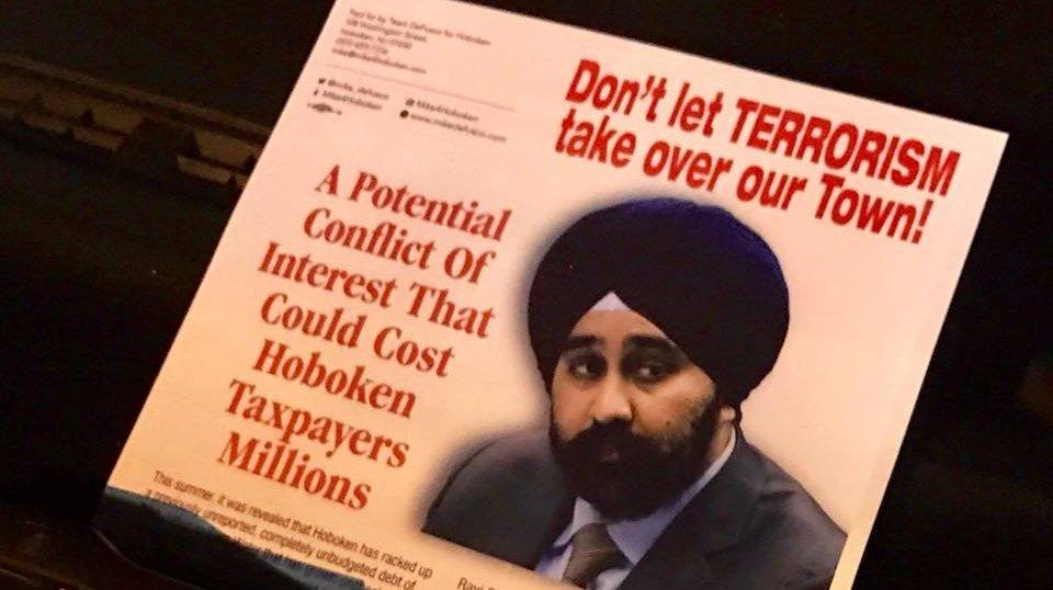 Racist Flyer Paints Sikh Mayoral Candidate As A Terrorist