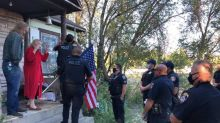 73-year-old woman uses American flag to defend family from intruder, Utah cops say
