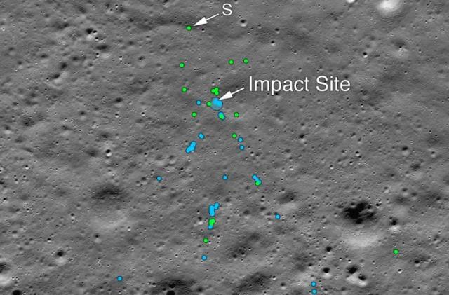 NASA photos show the crash site of India's Vikram lunar lander