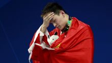 Sun Yang unfurls another win after flag flap at Asian Games