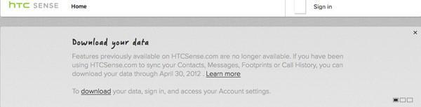 HTCSense.com to shutter service April 30th, facelift on the way