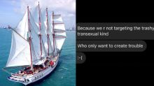 'Trashy transexual' comment sinks LGBT event on Sentosa super yacht