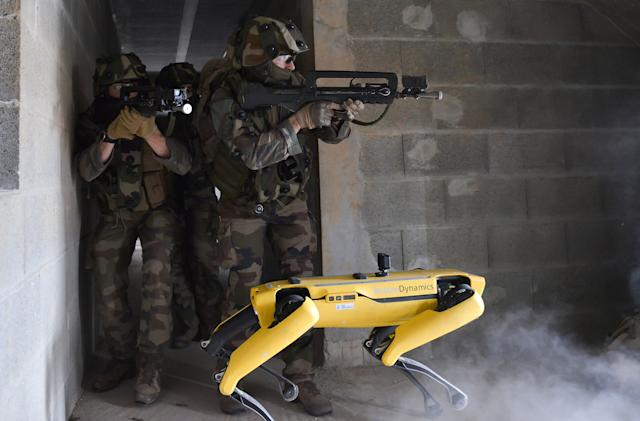 Boston Dynamics' Spot robot tested in combat training with the French army