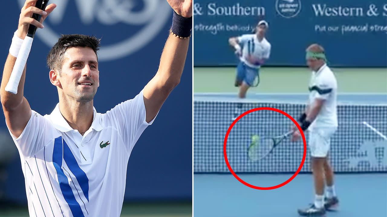 Tennis Novak Djokovic Flawless After One In A Million Shot