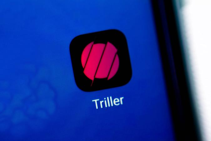BRAZIL - 2020/08/28: In this photo illustration an icon of Triller app displayed on a smartphone. (Photo Illustration by Rafael Henrique/SOPA Images/LightRocket via Getty Images)