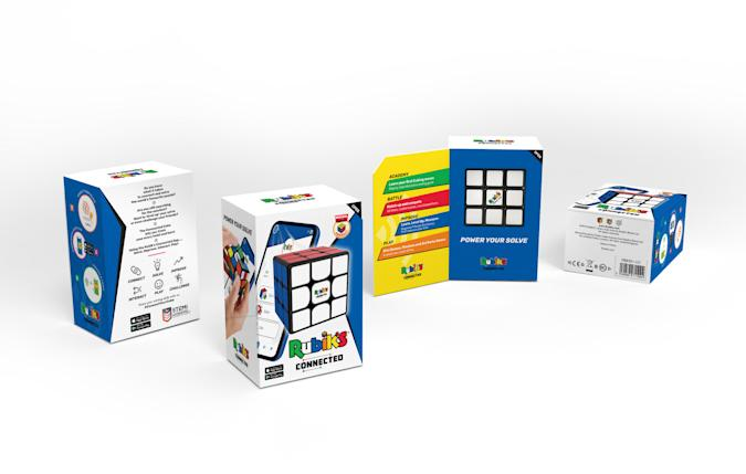The new Rubik's Connected Cube is a physical object which connects to phones and tablets.