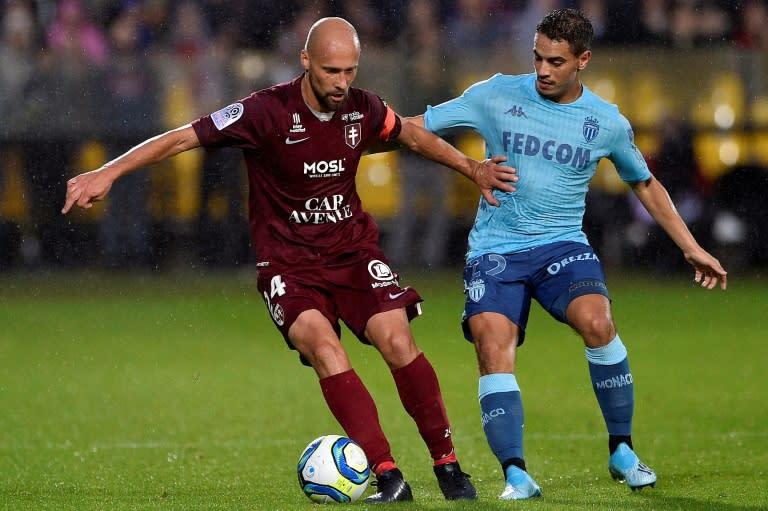 Wissam Ben Yedder (R) on his debut for Monaco against Metz last weekend (AFP Photo/JEAN-CHRISTOPHE VERHAEGEN)