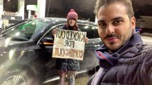 Entrepreneur helps homeless transgender teen panhandling on highway: 'Keep pushing, better days ahead'