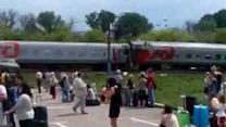 Truck Crashes Into a Train Near Belgorod