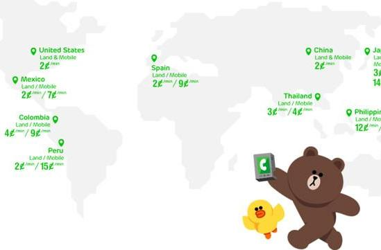 LINE's internet calling service goes live on Android, starting at 2 cents per minute