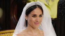 Meghan Markle Snuck 'Something Blue' in Her Wedding Veil and Nobody Noticed