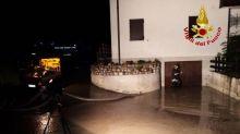 Temporale a Cortina: strade allagate e piene di fango