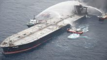 Salvagers mend ruptures in fire-hit oil tanker off Sri Lanka